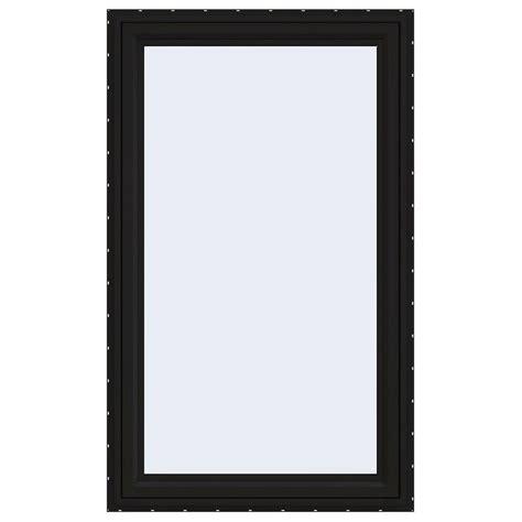 jeld wen        series left hand casement vinyl window black