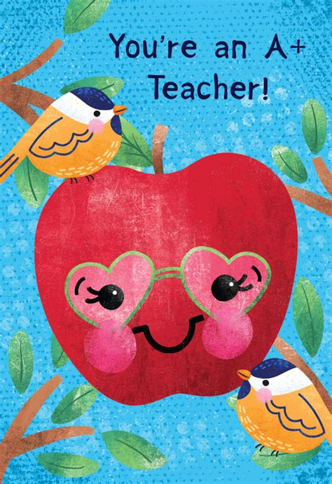 wise apple   card  teacher