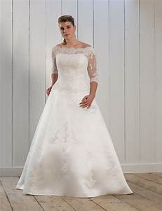 chic plus size wedding dresses with lace sleeves wedwebtalks With plus wedding dress with sleeves