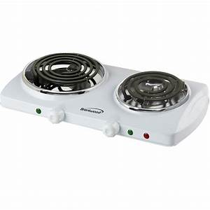 Brentwood 97083281m Electric 1500w Double Burner Spiral White