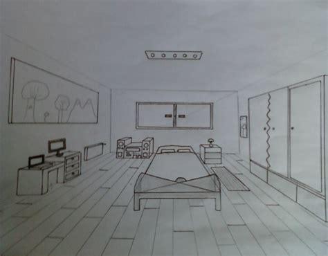 dessin en perspective d une chambre ma chambre en perspective le de mélanie