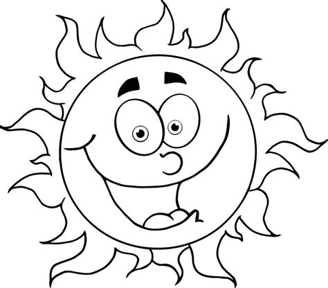 sun coloring pages getcoloringpagescom