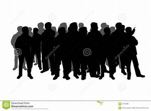 Silhouette of a crowd stock illustration. Illustration of ...