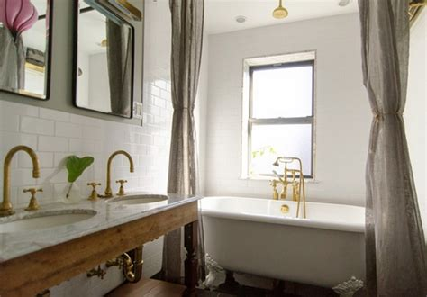 Brass Fixtures Bathroom brass hardware and fixtures are back