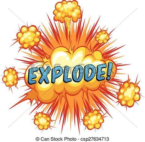 vector clip art  explode word explode  cloud