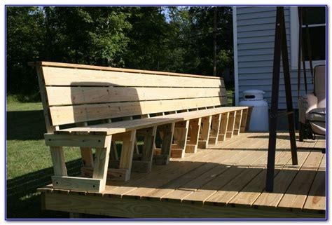 deck bench seating ideas decks home decorating ideas