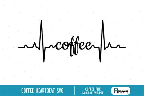 Download the free graphic resources in the form of png. Coffee Heartbeat Svg - SoFontsy