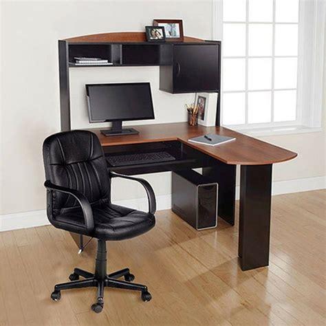 computer desk chair corner  shape hutch ergonomic study