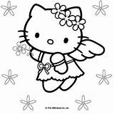 Coloring Kitty Christmas Hello sketch template