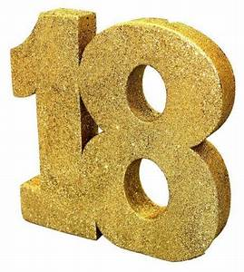 18th Gold Glitter Table Decoration - Non Stop Party Shop