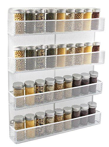 Mounted Spice Rack by Spice Racks Tier Wall Mount Organizer Large Kitchen