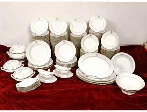 Vaisselle En Porcelaine : service vaisselle table 180 pi ces porcelaine paris monogramme xix ~ Teatrodelosmanantiales.com Idées de Décoration