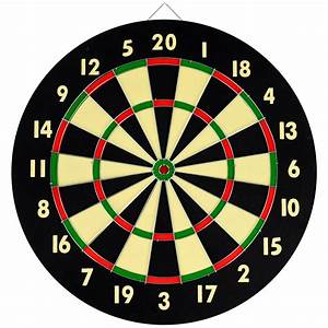 Yugster - Dart Game Set With 6 Darts and Board Dart Board