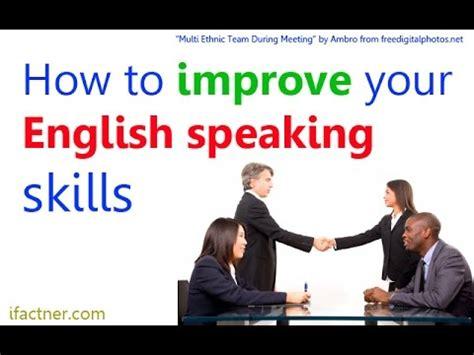 improve english speaking skills english