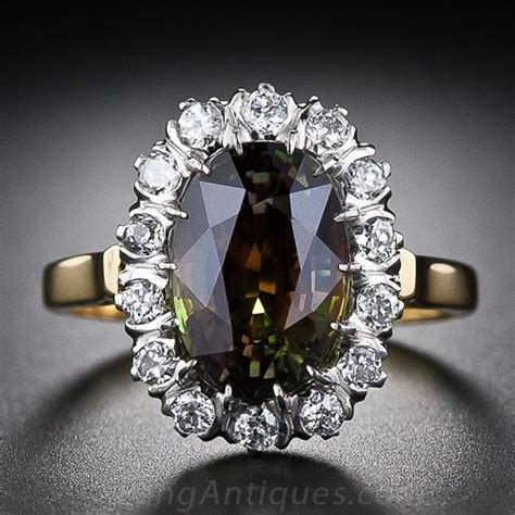 carat alexandrite  diamond ring
