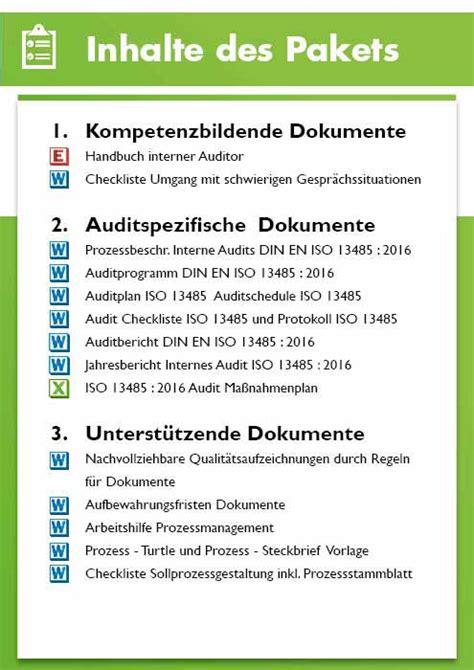 audit iso  internes audits vorlagen medizinprodukte