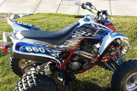 yamaha raptor raptor 660 graphics yamaha 660r atv custom sticker kit 2500 blue ebay