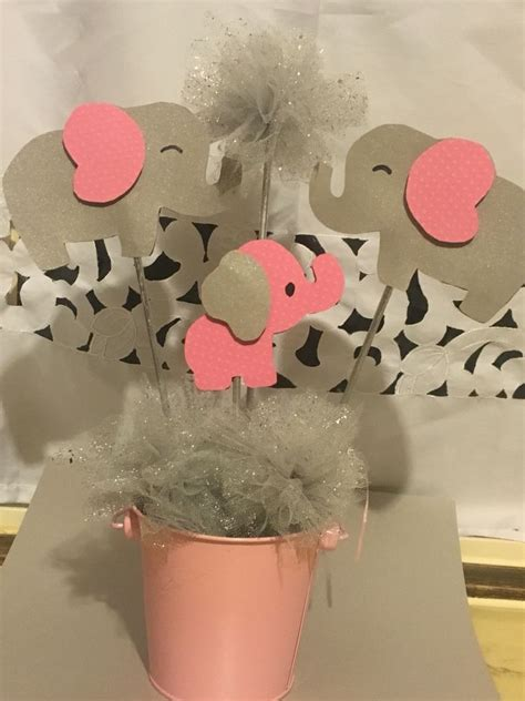 elephant centerpiece baby shower girl baby shower