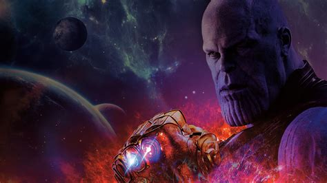 3840x2160 Avengers Infinity War Thanos With Gauntlet