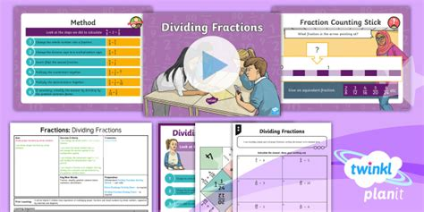 * New * Planit Maths Y6 Fractions Lesson Pack Dividing Fractions
