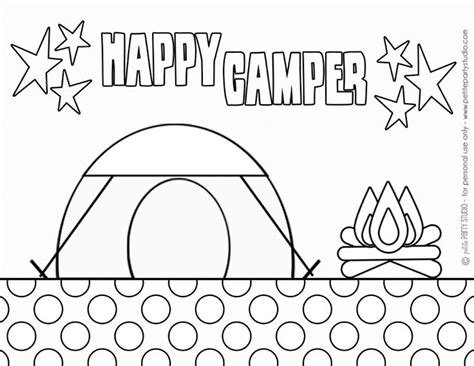 free printable camping coloring page by 673 | a90cc46a8a710dc7eafb07c670272359 camping crafts camping theme