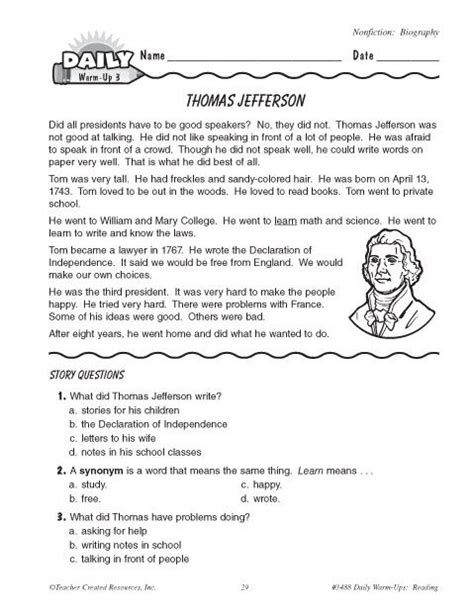 jefferson worksheets search summer