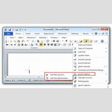 Where Is The Insert Citation Command In Word 2007, 2010, 2013, 2016, 2019 And 365