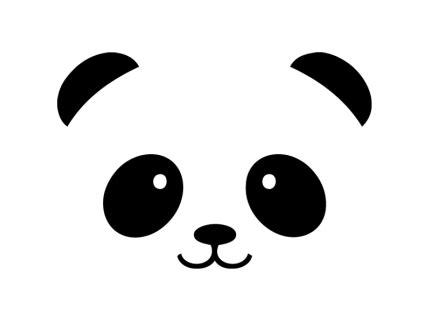 cara panda pegatinas pared