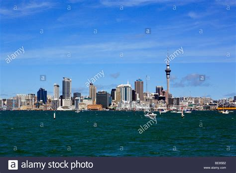 Boat Tower Nz by Sky Tower New Zealand Boat View Stock Photos Sky Tower