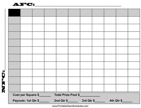 square football board template super bowl squares