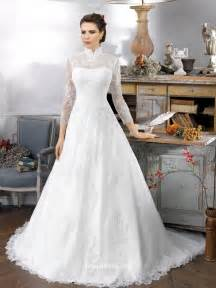 collared wedding dress vintage sleeve high collar lace wedding dress groupdress