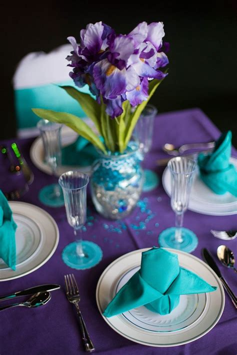 purple and turquoise wedding a wedding in 2019 teal