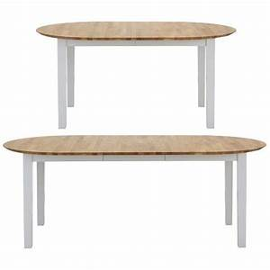 Table De Salle A Manger Ovale : table de salle manger ovale rallonge en bois massif blanc ch ne vue 2 meubles ~ Teatrodelosmanantiales.com Idées de Décoration