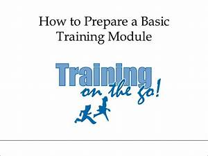 How to prepare a basic training module for Training module template