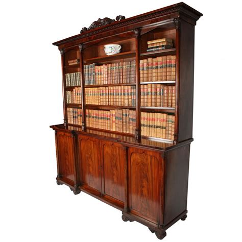Mahogony Bookcase by Antique Mahogany Bookcase Georgian Open Bookcase