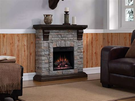 stone electric fireplace ideas  pinterest
