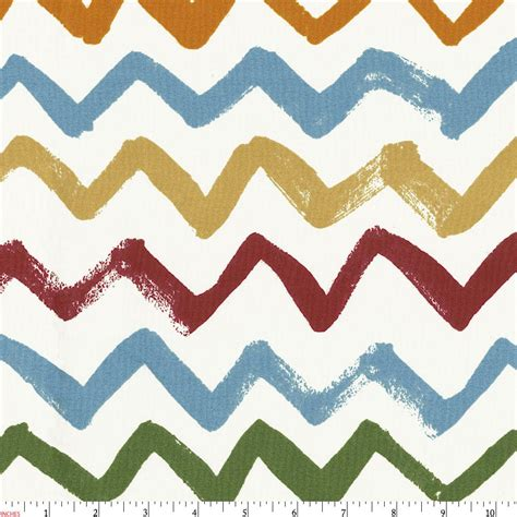 painted zig zag fabric by the yard fabric carousel designs