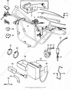Kawasaki Motorcycle 1978 Oem Parts Diagram For Chassis