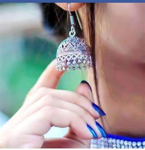 beautiful earring hide face dp  facebook display