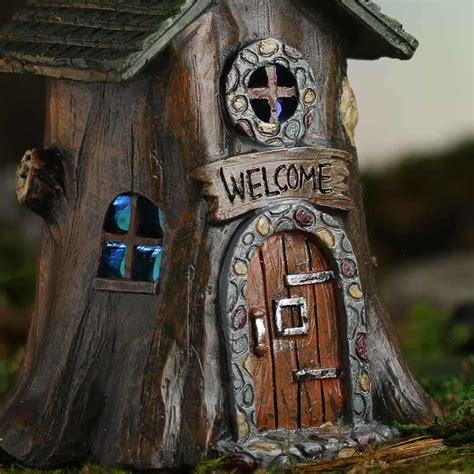 miniature resin light  tree house fairy garden supplies dollhouse miniatures doll