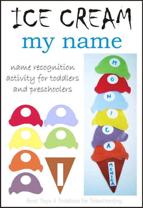 Free Ice Cream Name Printable Activity  Summer Activities For Preschoolers, Summer And Cream