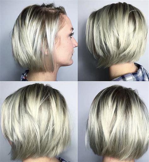 short bob hairstyle  fine hair