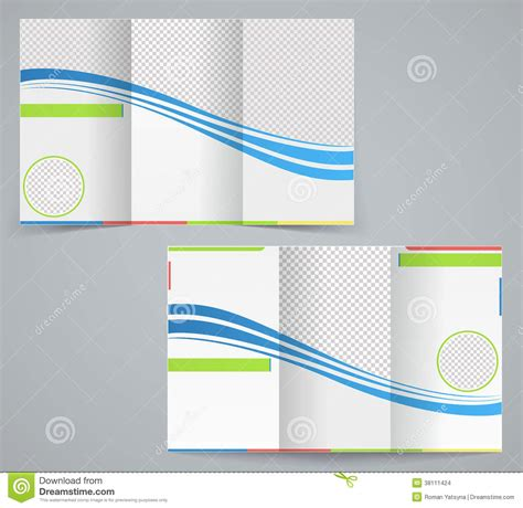 trifold template school empty tri fold business brochure template stock vector
