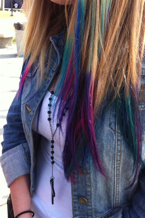 Dyed Tips Tumblr Its A Hair Day Pinterest Follow