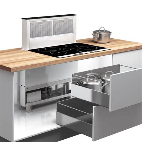 hotte de cuisine hotte integree plan travail obasinc com