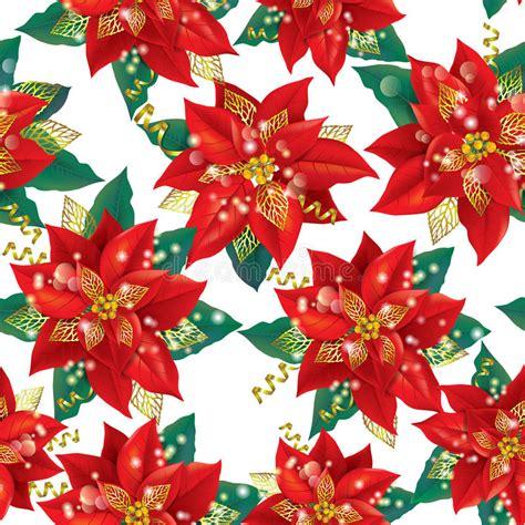 christmas seamless background  poinsettia  stock