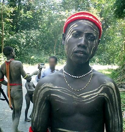 Jarawa Tribe Andaman India Andamanese Face Painting