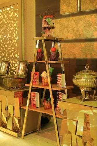 catering display equipment foldable golden stair
