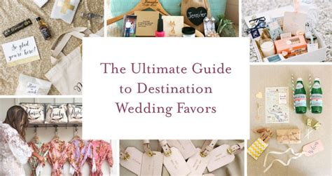 The Ultimate Guide To Destination Wedding Favors