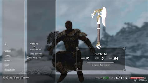 legendary axes  tes  skyrim